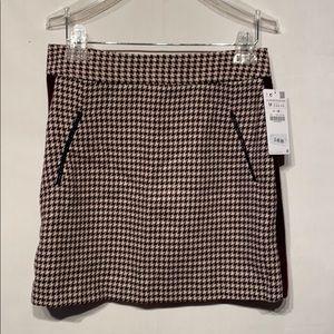 NWT Zara Herringbone Mini Skirt Suze Medium